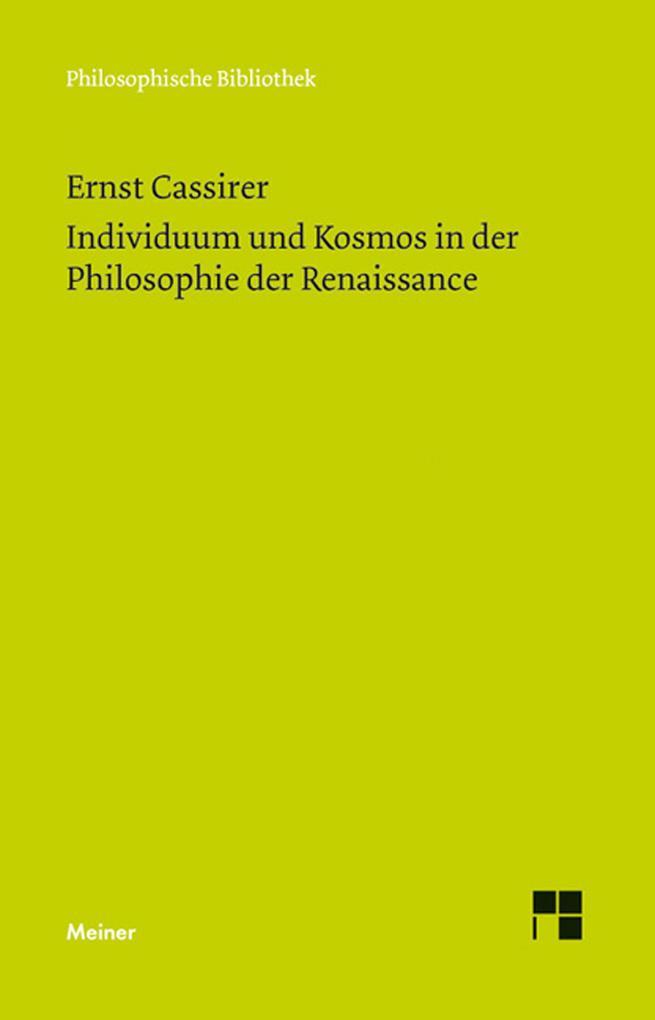 Individuum und Kosmos in der Philosophie der Re...
