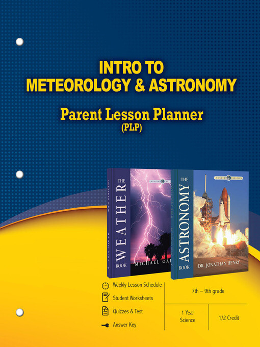 Intro to Meteorology & Astronomy Parent Lesson ...