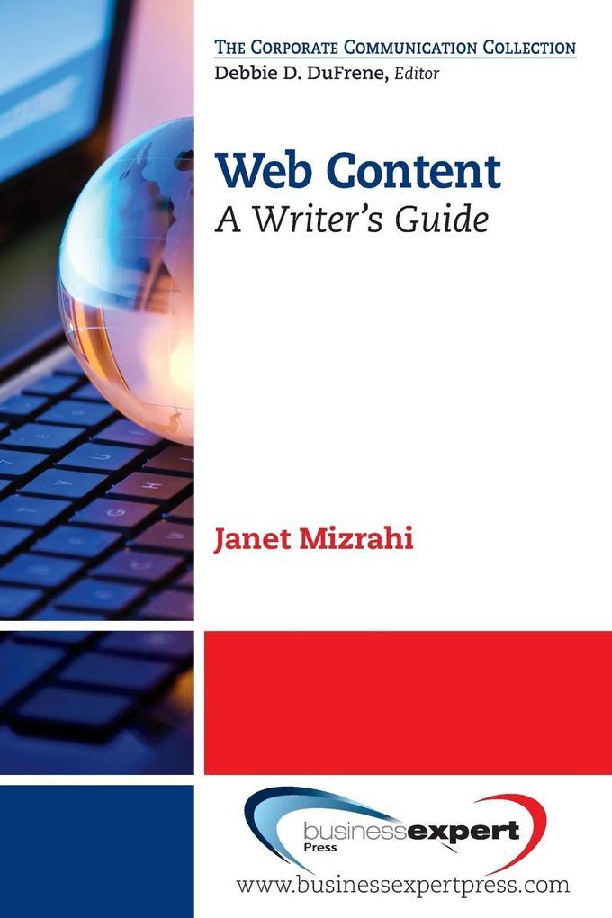 Web Content als Taschenbuch von Janet Mizrahi