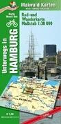 Hamburg Ost/West = unterwegs in Hamburg Rad- u. Wanderkarte = 1 Karte = Vorderseite West + Ost auf der Rückseite - mit vielen touristischen Informationen - Karte Ost/West