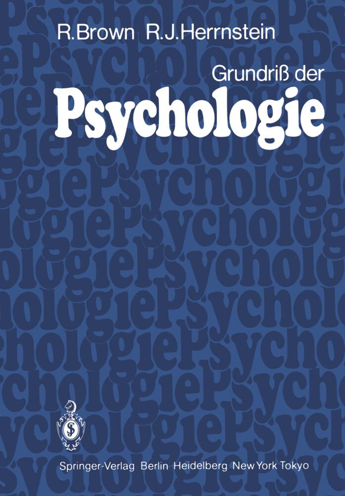Grundriß der Psychologie als Buch von R. Brown,...