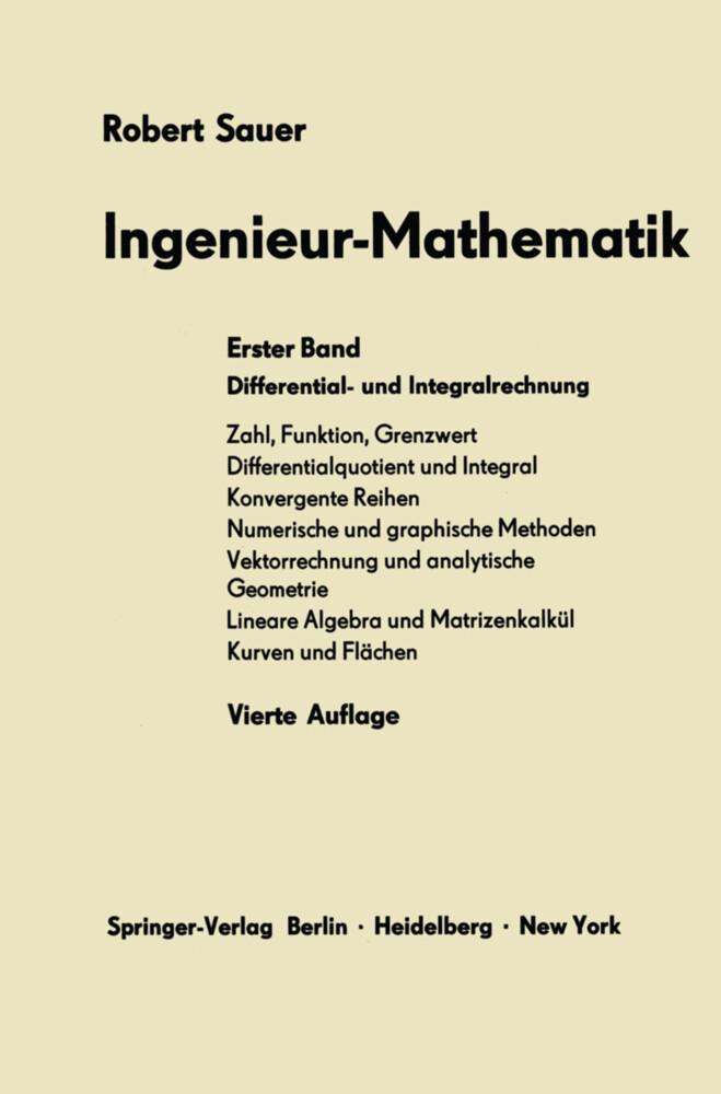Ingenieur-Mathematik als Buch von Robert Sauer