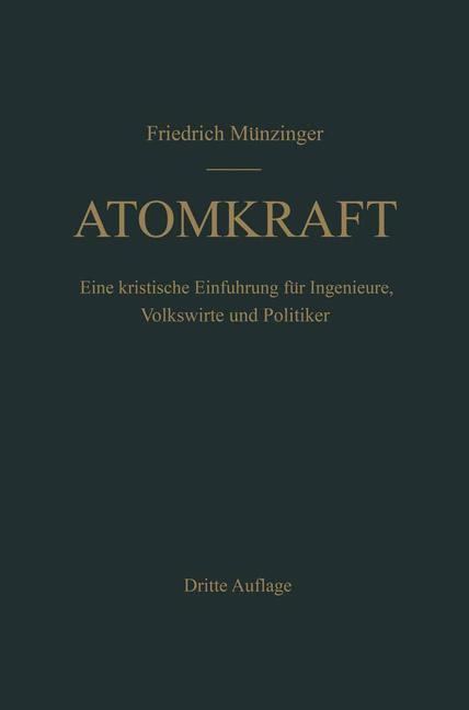 Atomkraft als Buch von F. Münzinger