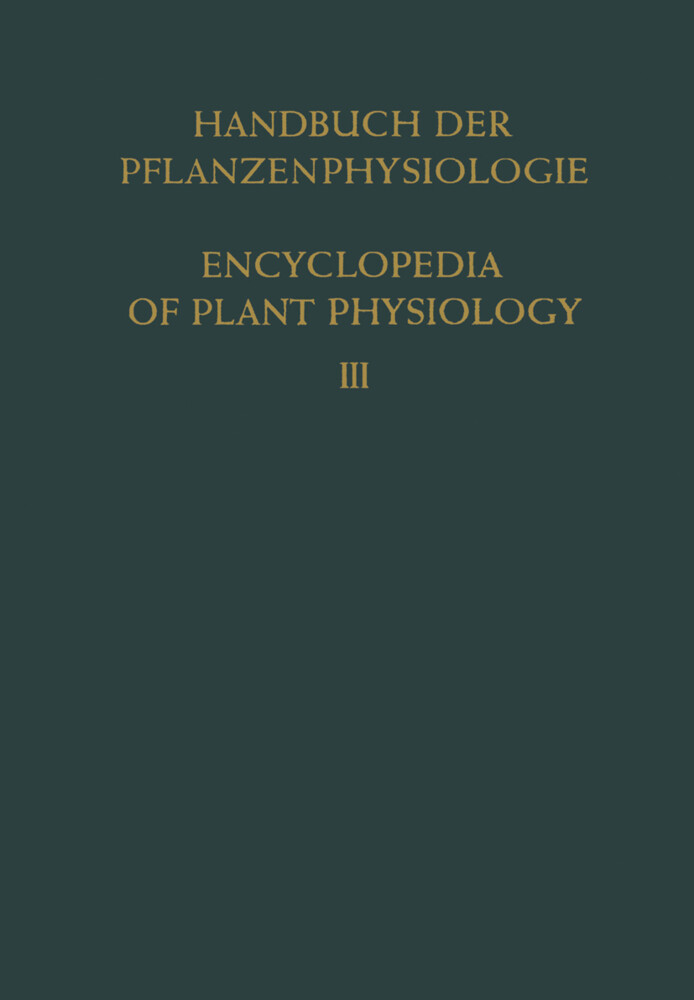 Pflanze und Wasser / Water Relations of Plants ...