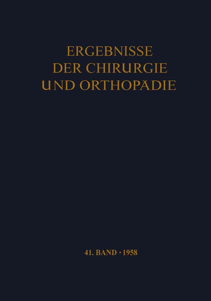 Ergebnisse der Chirurgie und Orthopädie als Buc...