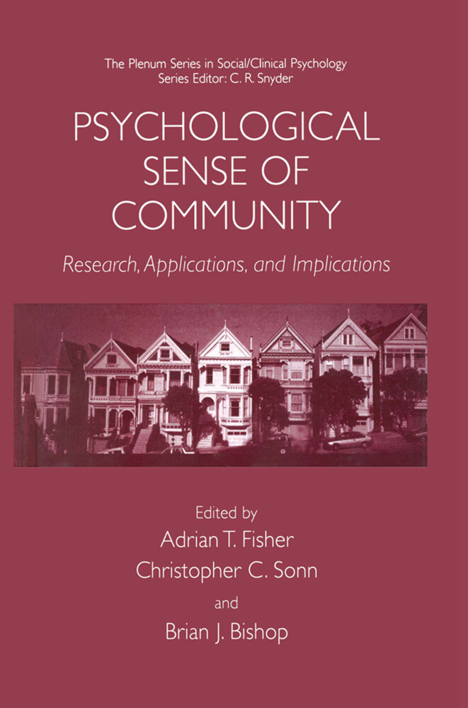 Psychological Sense of Community als Buch von