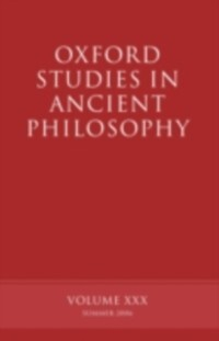 Oxford Studies in Ancient Philosophy XXX als eB...
