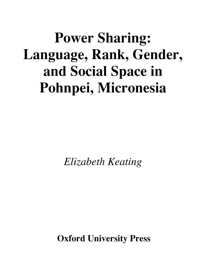 Power Sharing: Language, Rank, Gender and Socia...