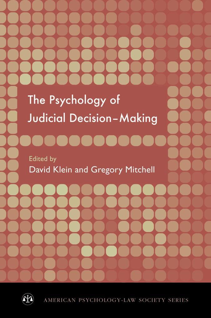 Psychology of Judicial Decision Making als eBoo...