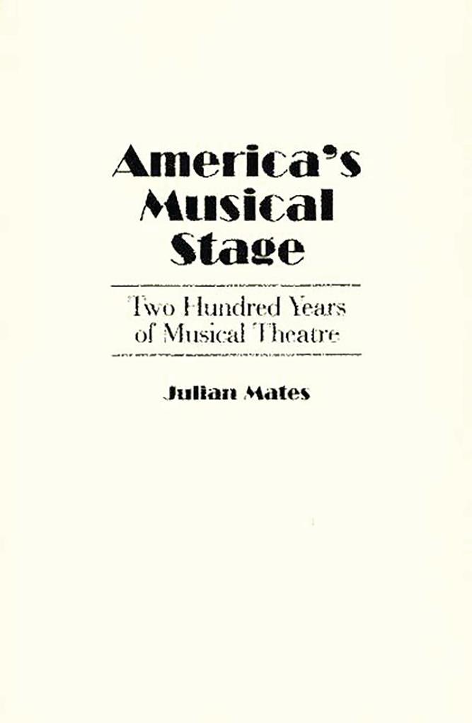 America´s Musical Stage als eBook Download von ...