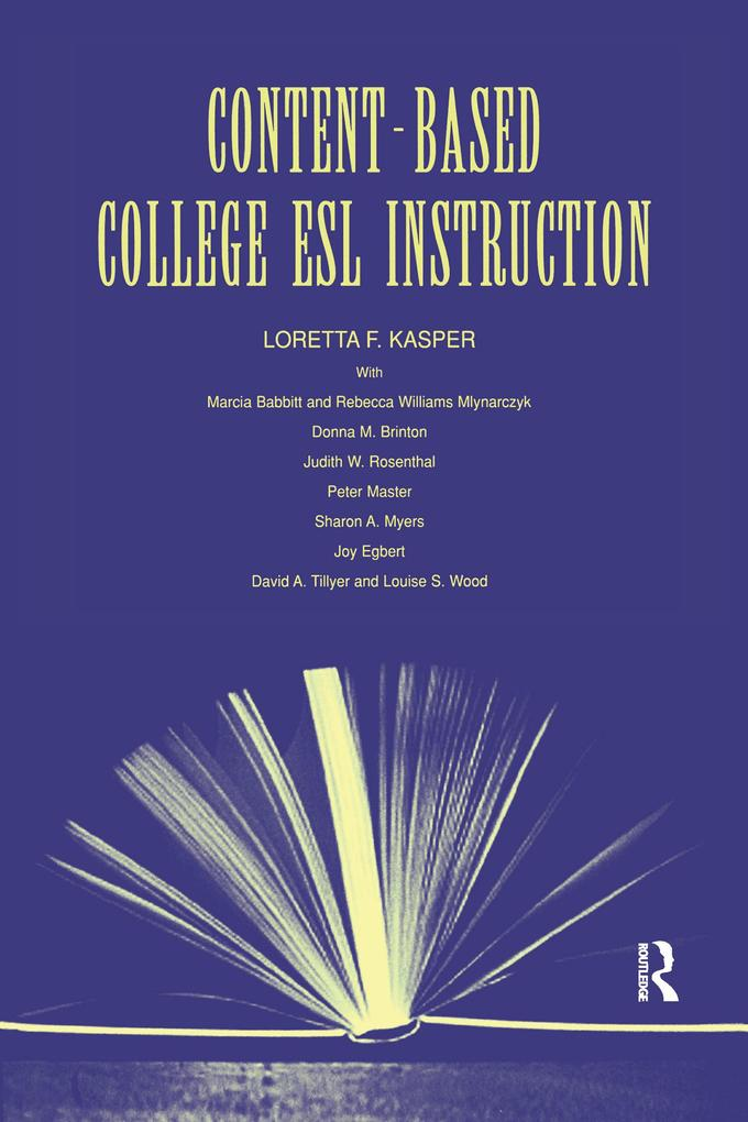 Content-Based College ESL Instruction als eBook...