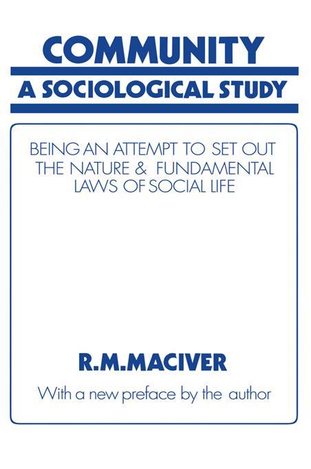 Community als eBook Download von Robert M MacIver