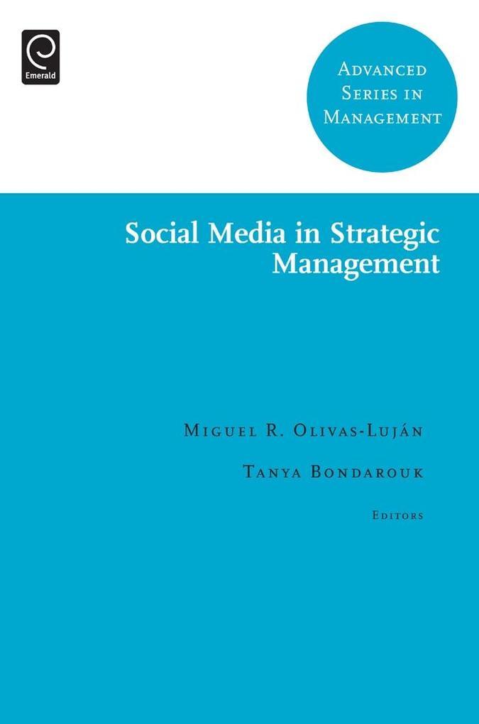 Social Media in Strategic Management als eBook ...