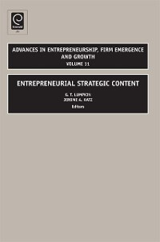 Entrepreneurial Strategic Content als eBook Dow...