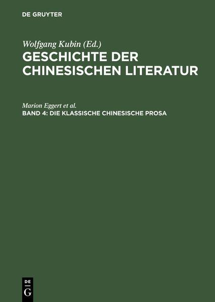 Die klassische chinesische Prosa als Buch (gebunden)