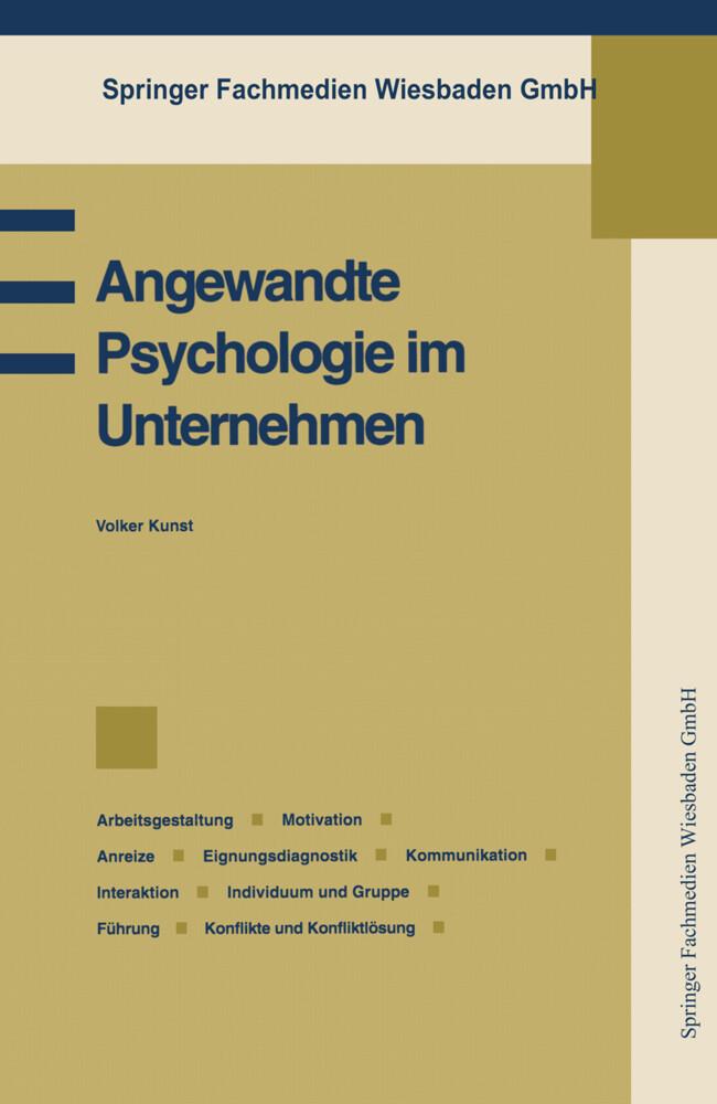 Angewandte Psychologie im Unternehmen als Buch ...