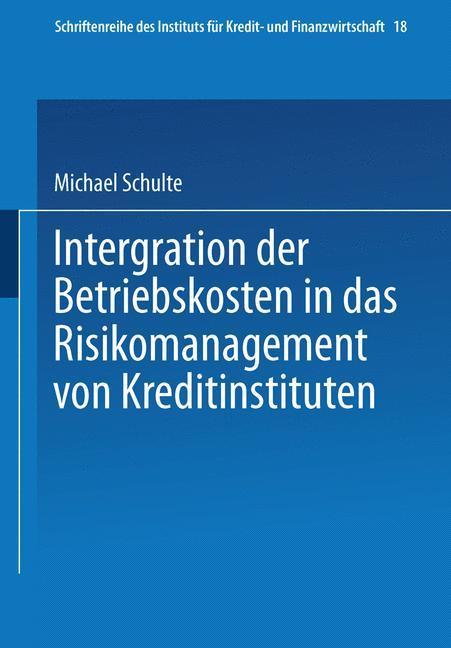 Integration der Betriebskosten in das Risikoman...