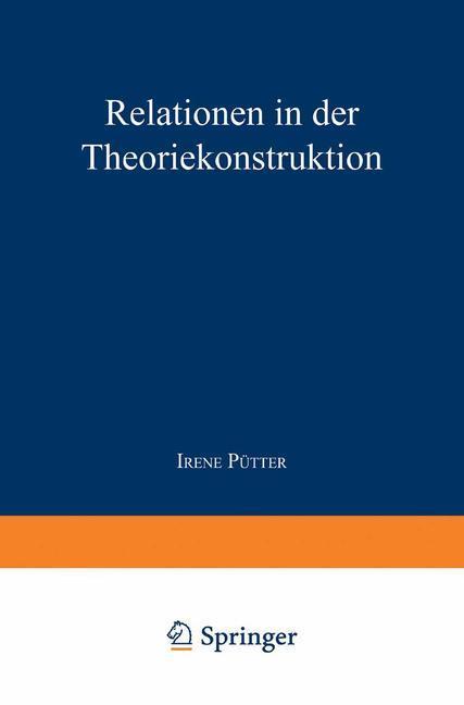 Relationen in der Theoriekonstruktion als Buch ...