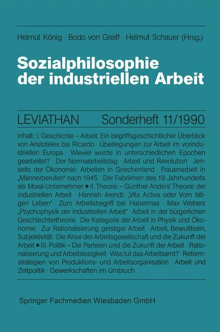 Sozialphilosophie der industriellen Arbeit als ...