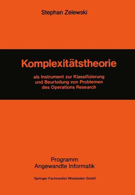 Komplexitätstheorie als Buch von Stephan Zelewski