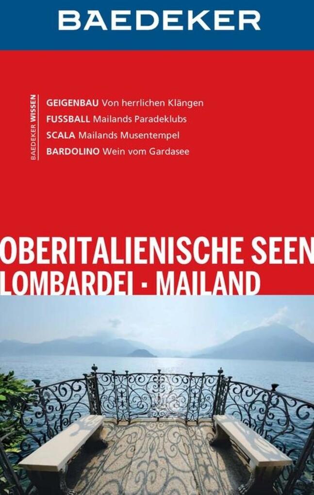 Baedeker Reiseführer Oberitaliensche Seen als e...