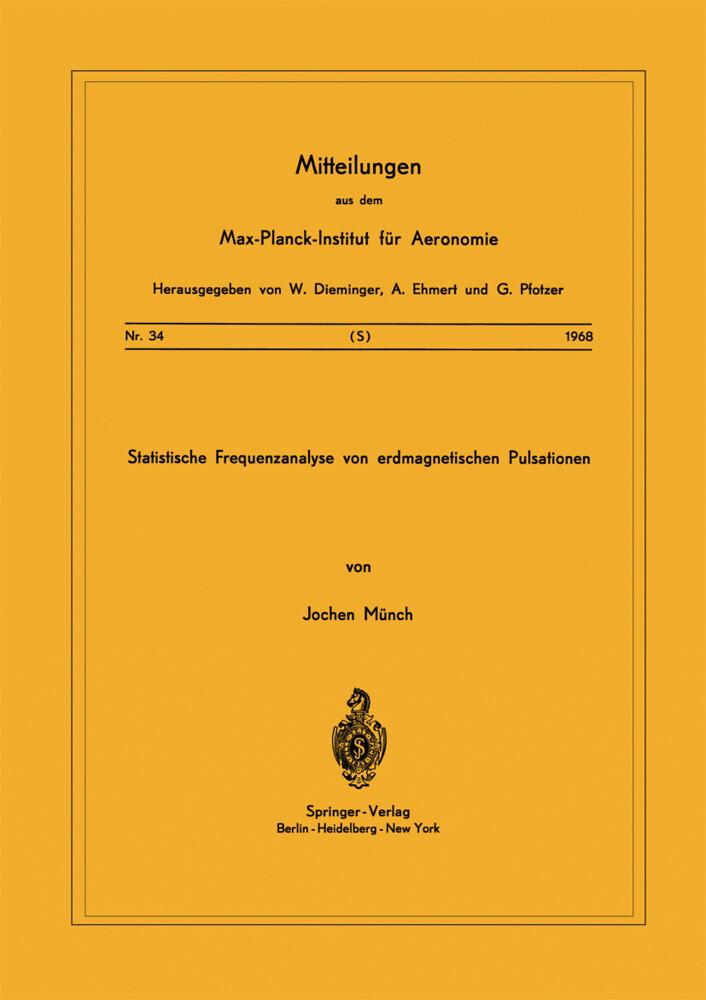 Statistische Frequenzanalyse von Erdmagnetische...