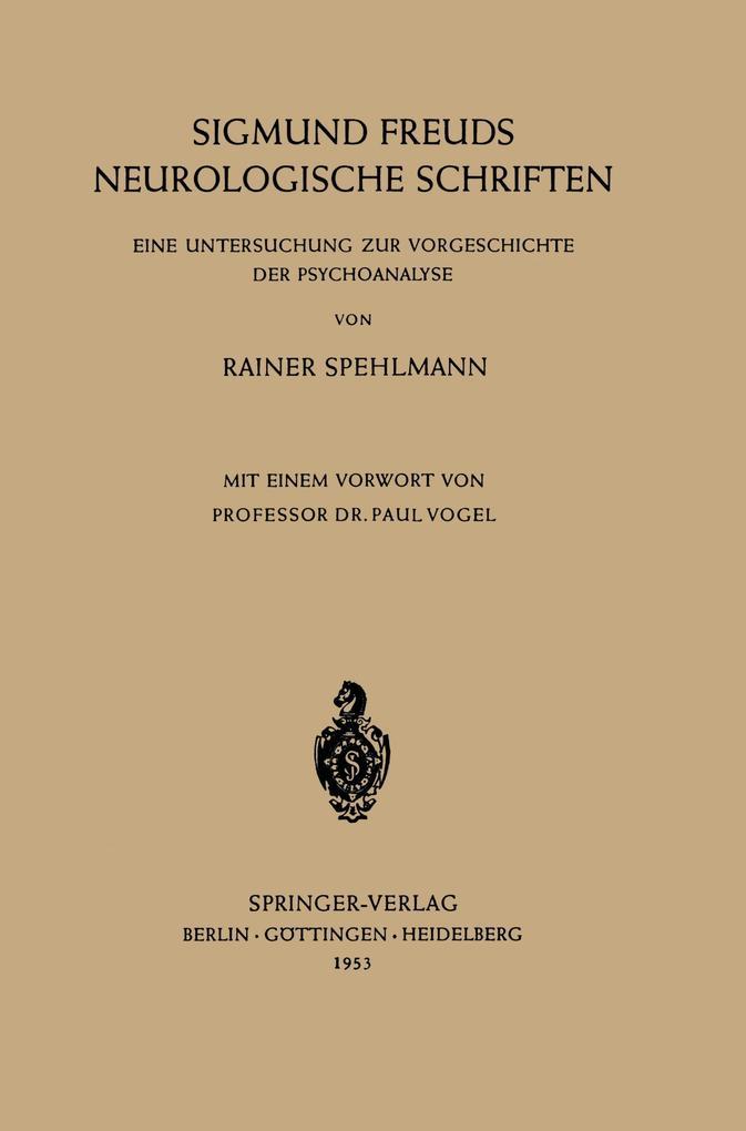 Sigmund Freuds Neurologische Schriften als Buch...