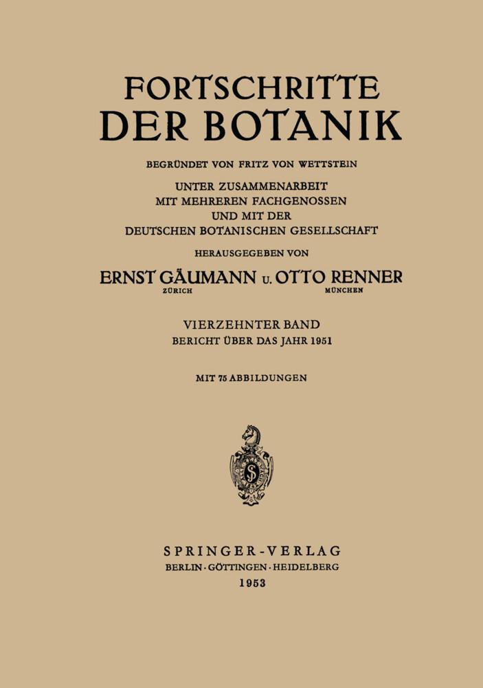 Bericht Über das Jahr 1951 als Buch von Ernst G...