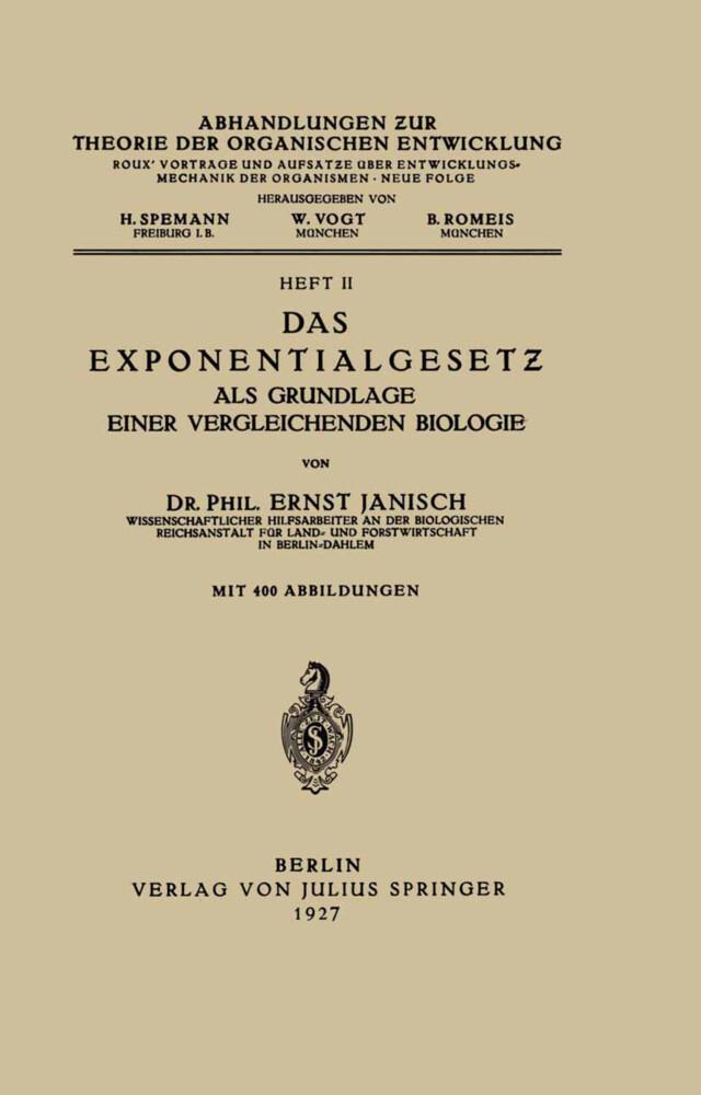 Das Exponentialgesetz als Grundlage einer Vergl...