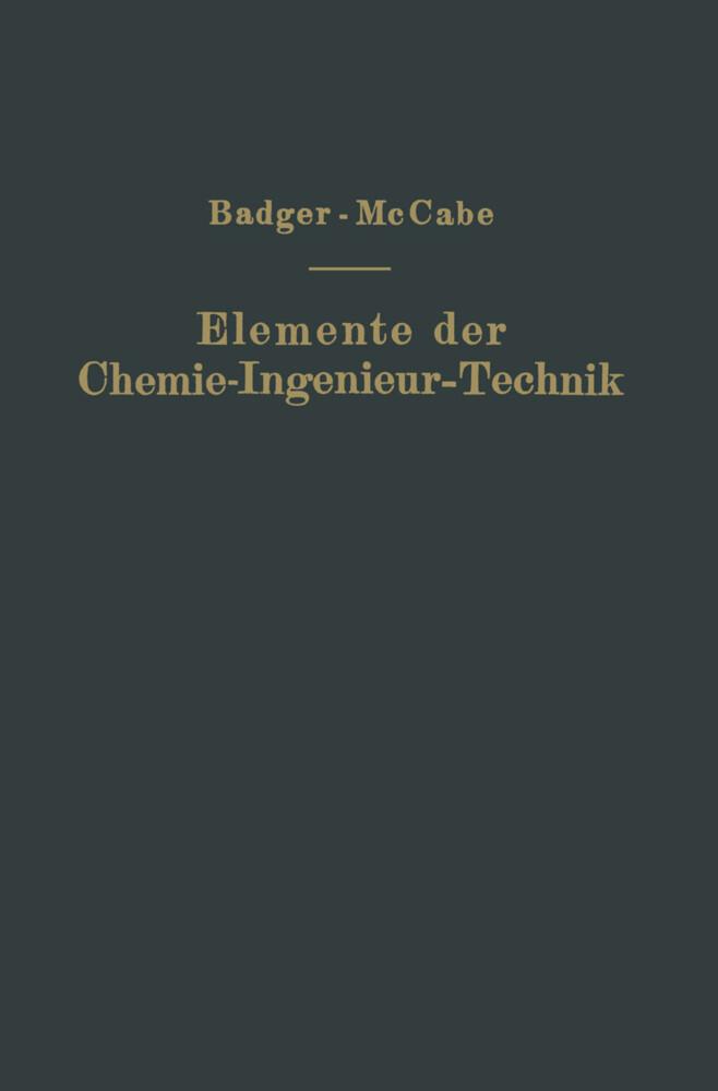 Elemente der Chemie-Ingenieur-Technik als Buch ...