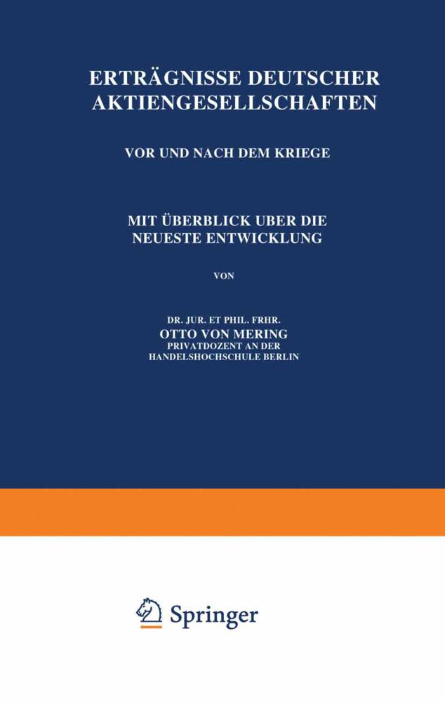 Erträgnisse Deutscher Aktiengesellschaften Vor ...