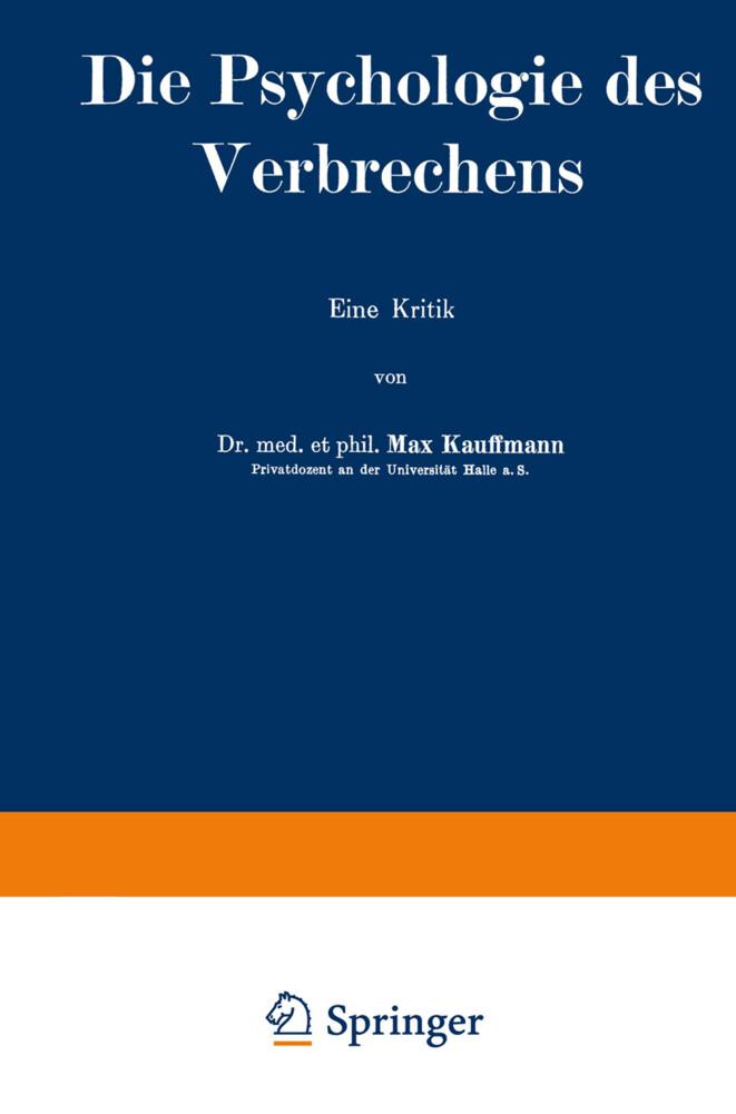 Die Psychologie des Verbrechens als Buch von Ma...