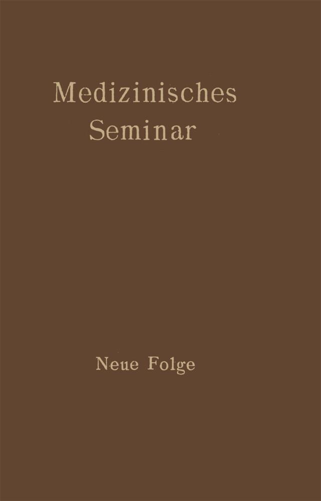 Medizinisches Seminar als Buch von
