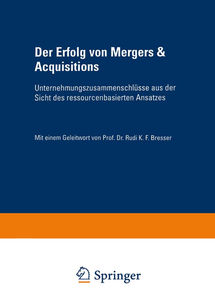 Der Erfolg von Mergers & Acquisitions als Buch