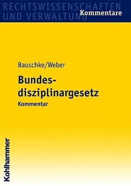 Bundesdisziplinargesetz als Buch