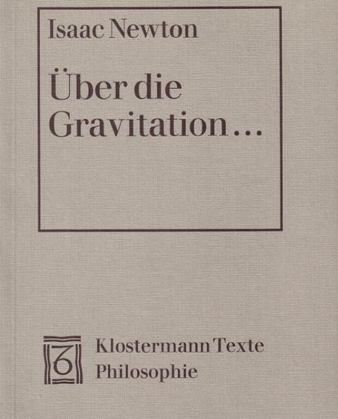 Über die Gravitation als Buch von Isaac Newton