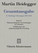 Gesamtausgabe Abt. 2 Vorlesungen Bd. 61. Phänomenologische Interpretationen zu Aristoteles