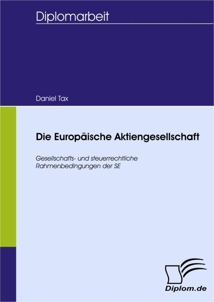 Die Europäische Aktiengesellschaft als eBook Do...