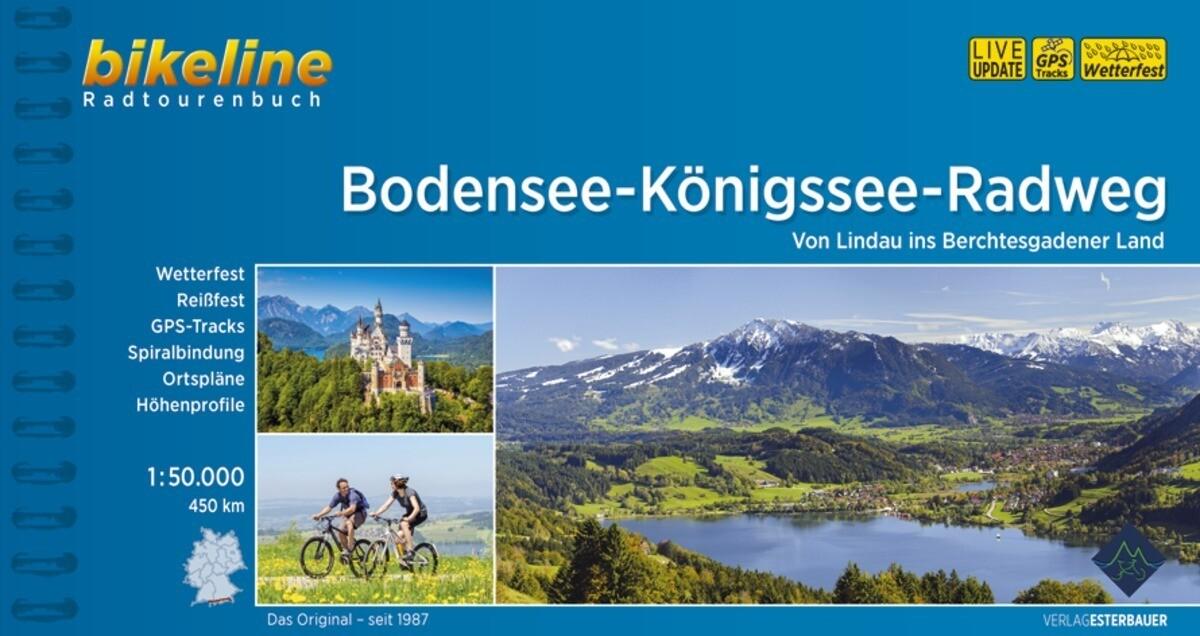 Bodensee-Königssee-Radweg 1:50.000 als Buch (kartoniert)