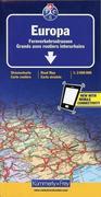 KuF Europa. Fernverkehrsstraßen 1 : 3 600 000