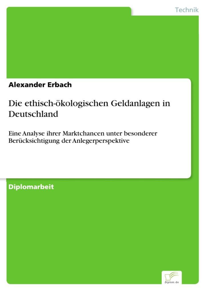Die ethisch-ökologischen Geldanlagen in Deutsch...