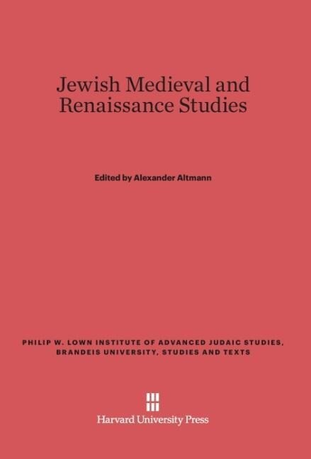 Jewish Medieval and Renaissance Studies als Buc...