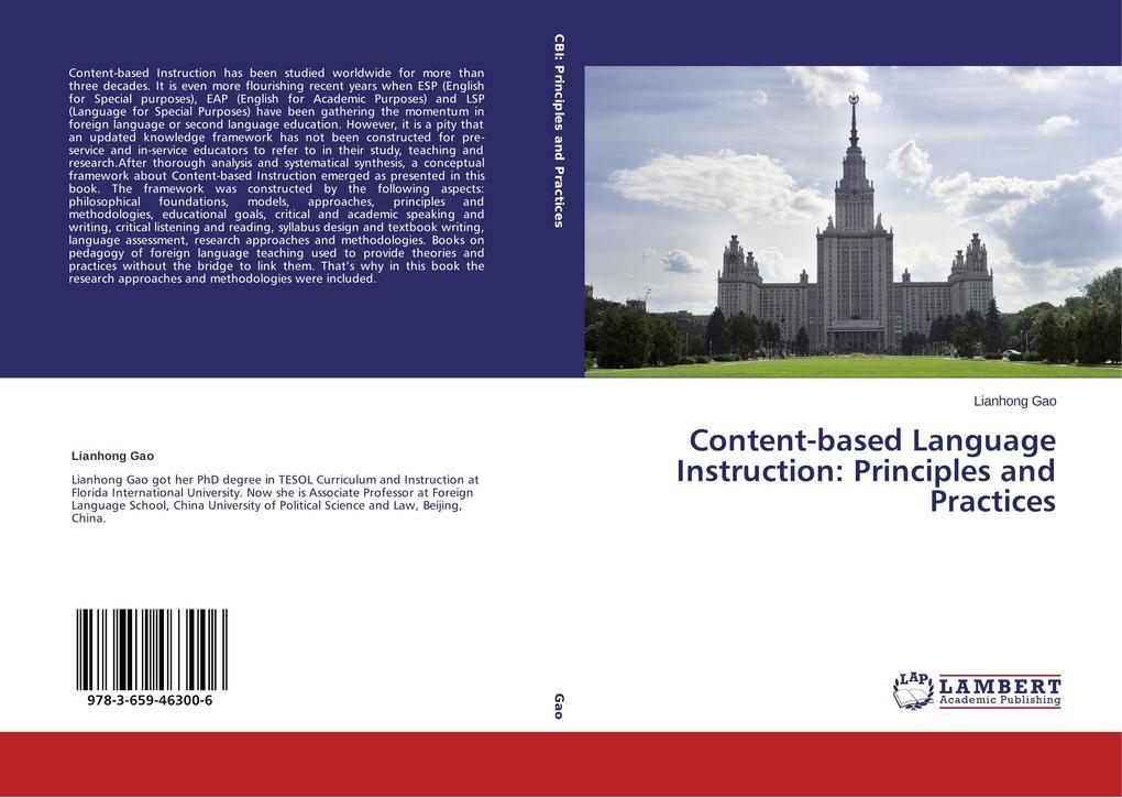 Content-based Language Instruction: Principles ...