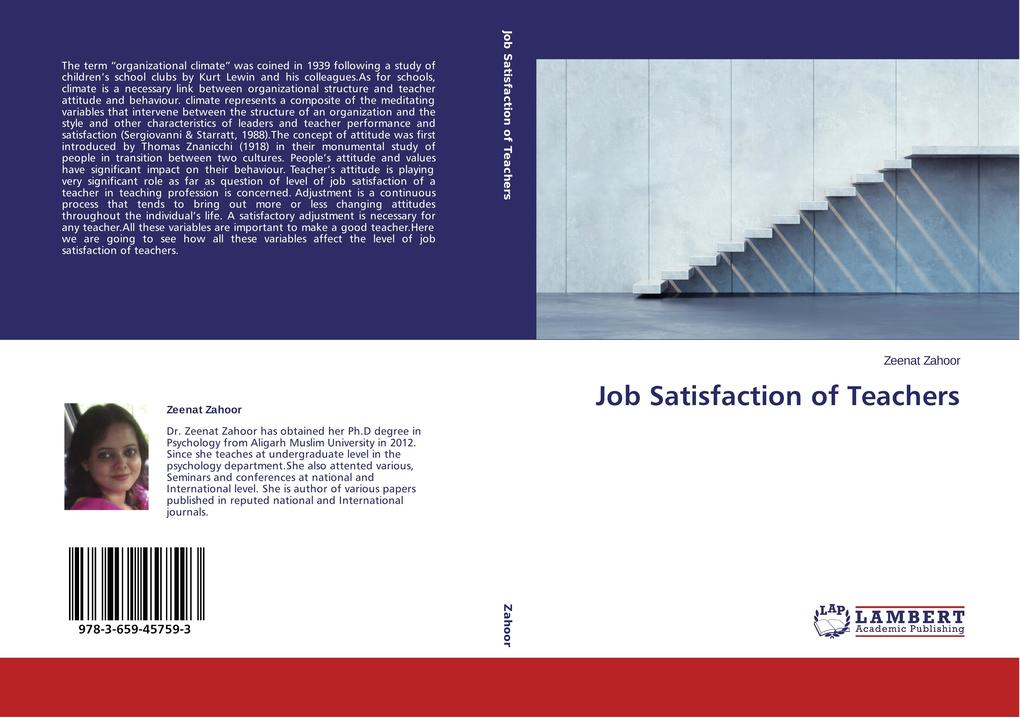 Job Satisfaction of Teachers als Buch von Zeena...