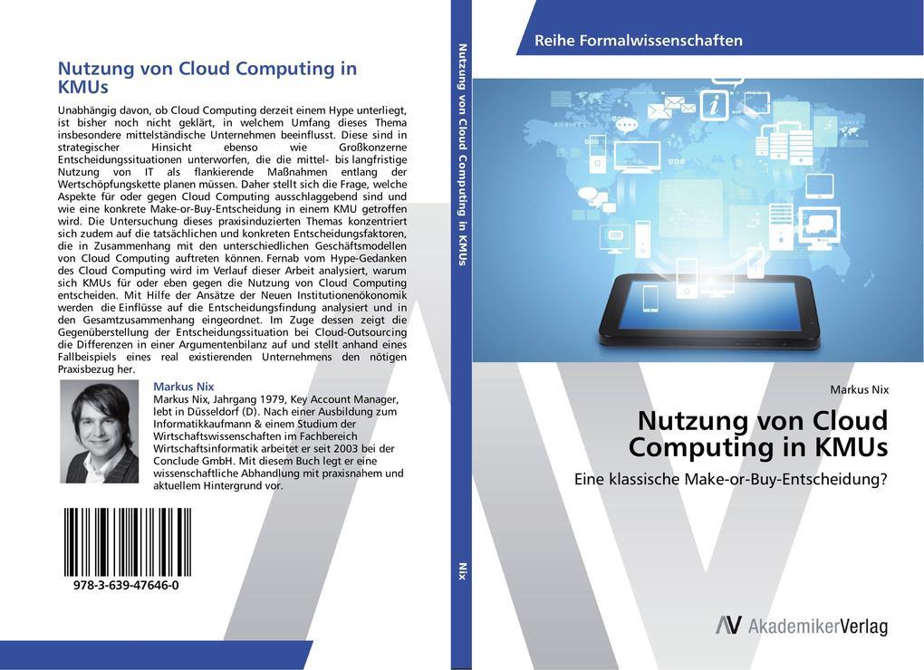 Nutzung von Cloud Computing in KMUs als Buch vo...