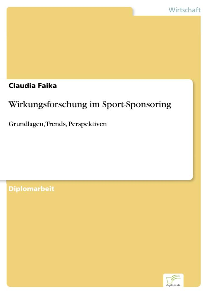 Wirkungsforschung im Sport-Sponsoring als eBook...
