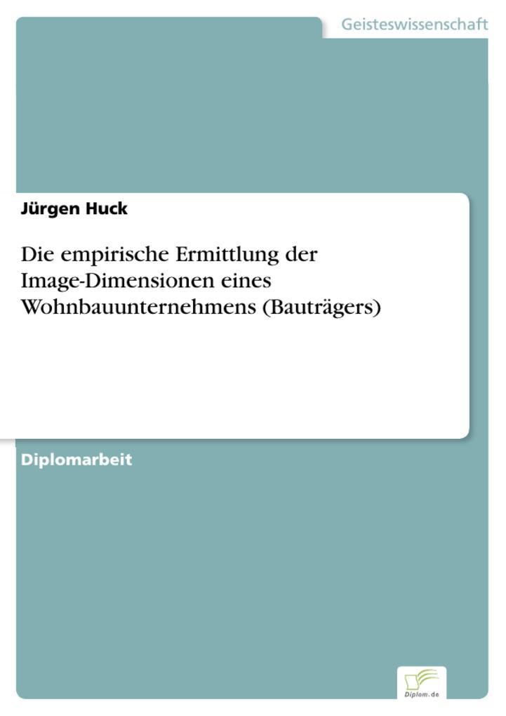 Die empirische Ermittlung der Image-Dimensionen...