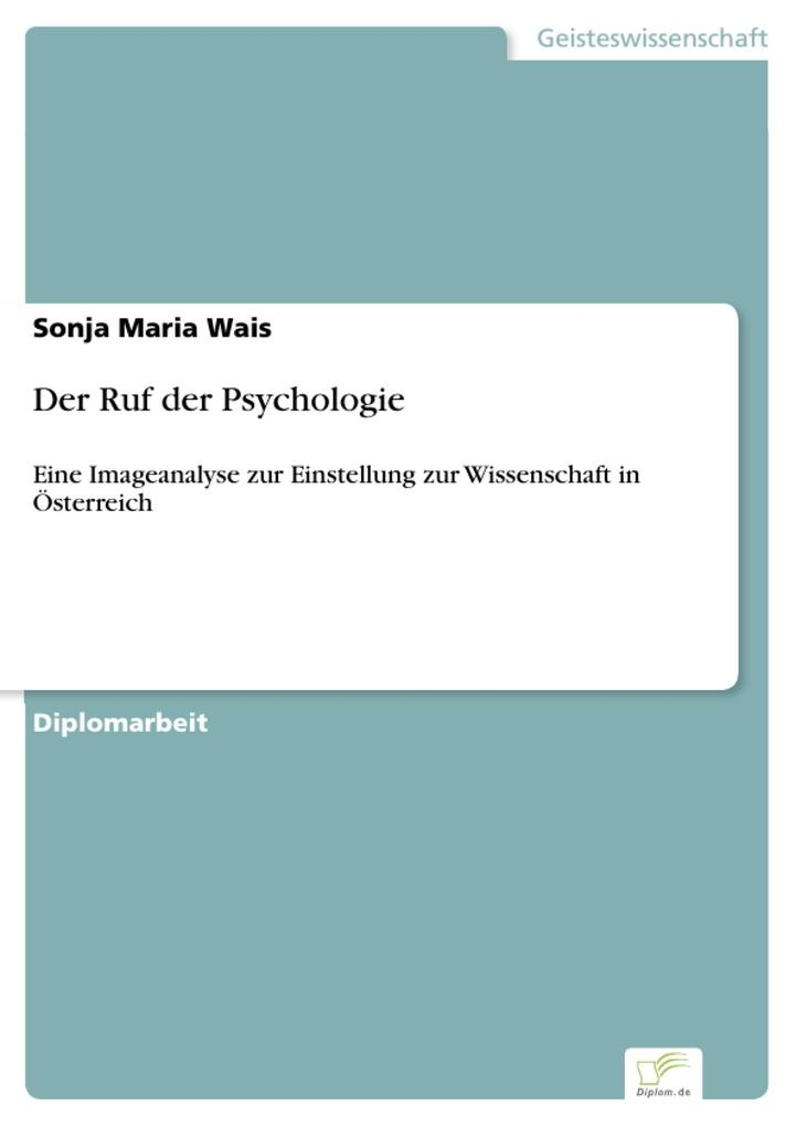 Der Ruf der Psychologie als eBook Download von ...