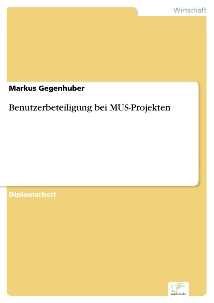 Benutzerbeteiligung bei MUS-Projekten als eBook...