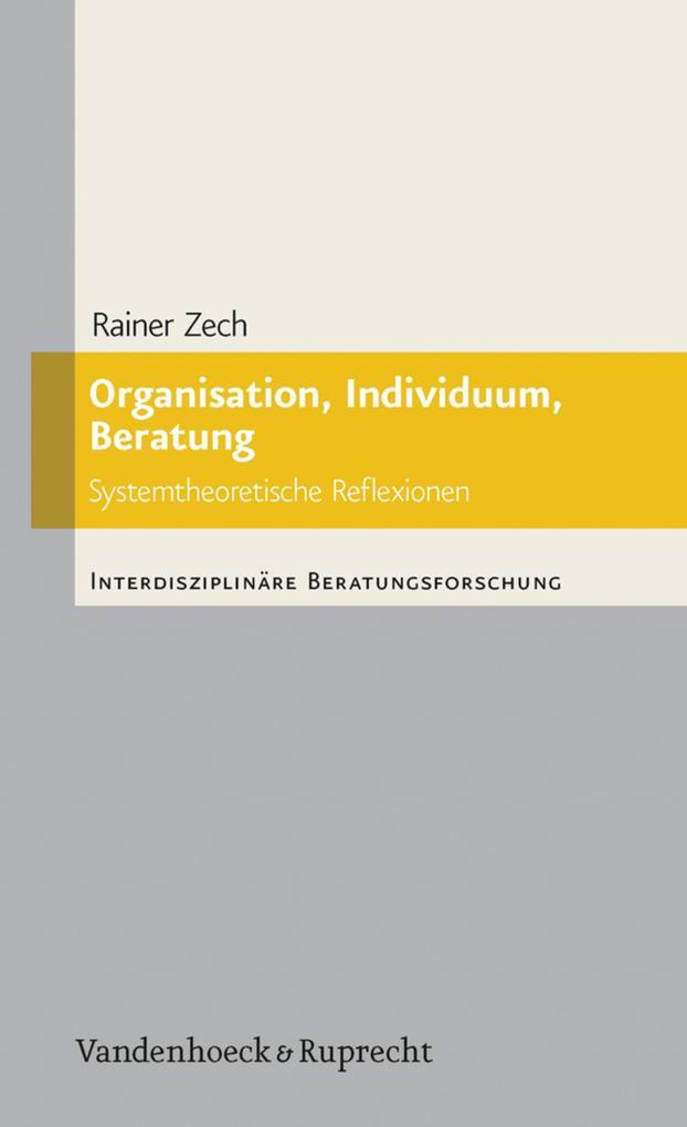 Organisation, Individuum, Beratung als eBook Do...